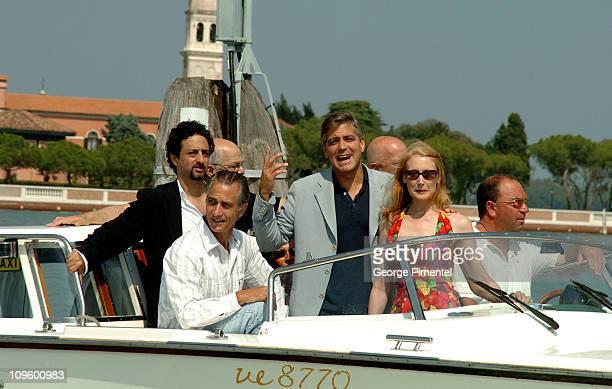 Grant Heslov David Strathairn George Clooney and Patricia Clarckson