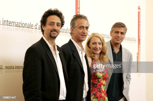 Grant Heslov David Strathairn Patricia Clarkson and George Clooney director