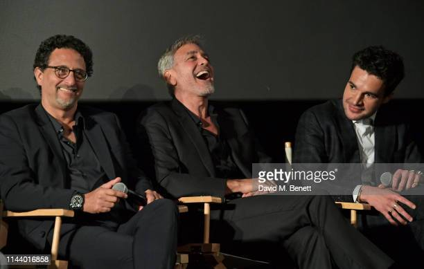 Grant Heslov George Clooney and Christopher Abbott attend the London Premiere of new Channel 4 show Catch22 based on Joseph Heller's novel of the...