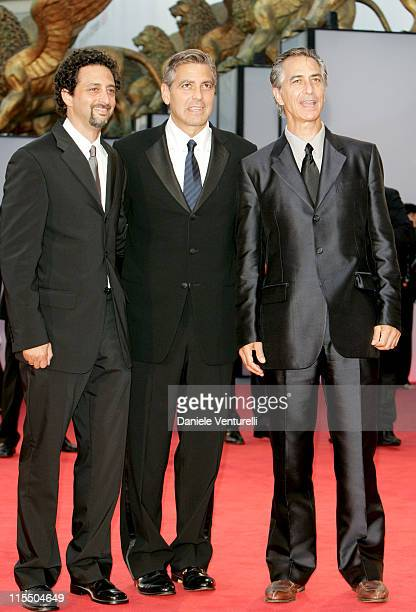 Grant Heslov George Clooney and David Strathairn during 2005 Venice Film Festival Closing Ceremony Red Carpet at Palazzo del Cinema in Venice Lido...