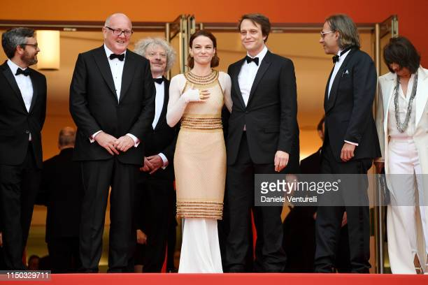 Grant Hill Marcus Loges Valerie Pachner August Diehl and Bill Pohlad attend the screening of A Hidden Life during the 72nd annual Cannes Film...