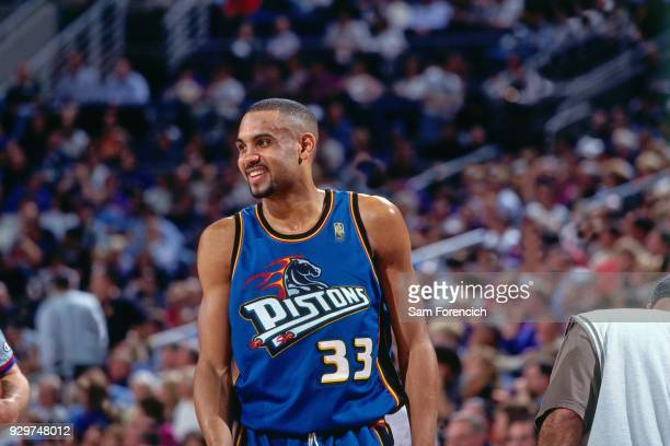 Grant Hill of the Detroit Pistons smiles circa 1997 at America West Arena in Phoenix Arizona NOTE TO USER User expressly acknowledges and agrees that...