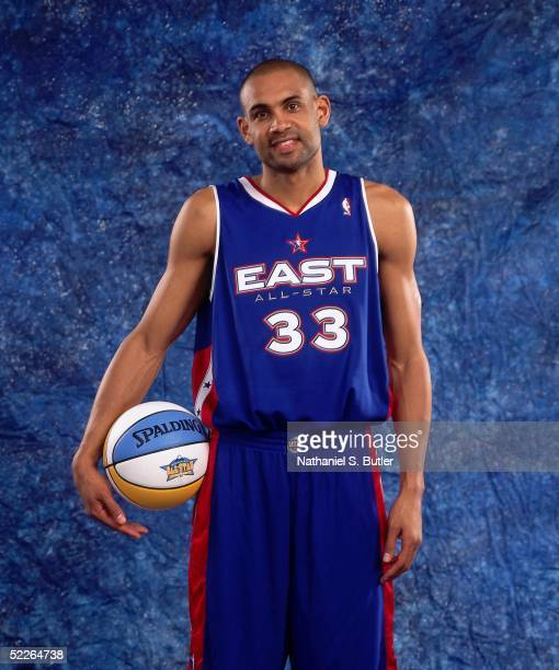 Grant Hill of the Eastern Conference AllStars poses for a portrait prior to the 2005 NBA AllStar Game at The Pepsi Center on February 20 2005 in...