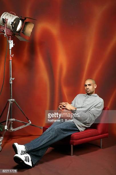 Grant Hill of the Orlando Magic poses for a portrait during the 2005 NBA AllStar Media Availability on February 17 2005 at the Westin Hotel in Denver...