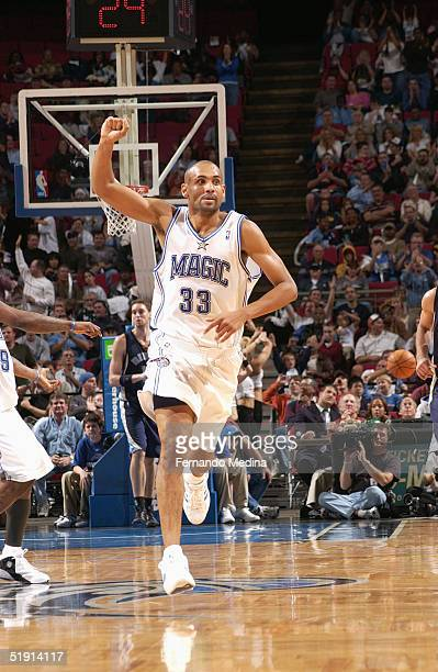 Grant Hill of the Orlando Magic runs on the court during the game with the Memphis Grizzlies at TD Waterhouse Centre on December 4 2003 in Orlando...