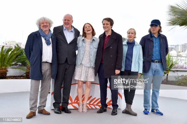 Grant Hill Valerie Pachner August Diehl Elisabeth Bentley and a guest attend the photocall for A Hidden Life during the 72nd annual Cannes Film...