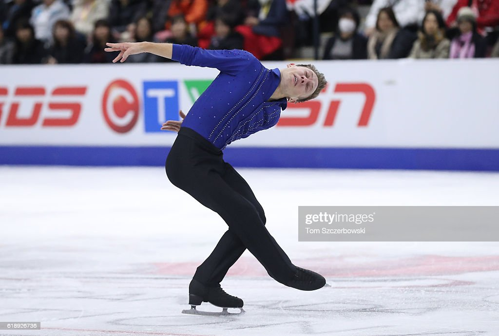 Grant Hochstein of the United States competes in the Men's Singles Short Program during day one of the 2016 Skate Canada International at Hershey Centre on October 28, 2016 in Mississauga, Canada.