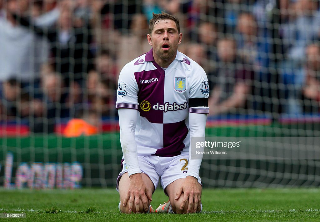 Grant Holt of Aston Villa during the Barclays Premier League match between Crystal Palace and Aston Villa at Selhurst Park on April 12, 2014 in London, England.
