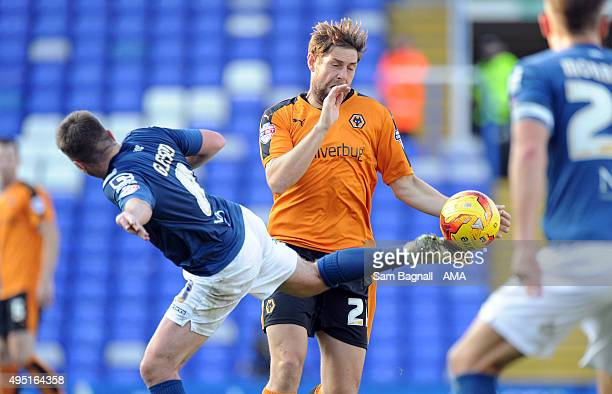 Grant Holt of Wolverhampton Wanderers during the Sky Bet Championship match between Birmingham City and Wolverhampton Wanderers at St Andrews on...