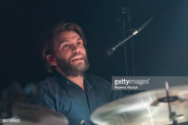 Grant Hutchison of Frightened Rabbit performs on stage at The Liquid Room on March 12 2018 in Edinburgh Scotland