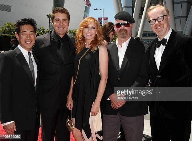 Grant Imahara Tory Belleci Kari Byron Jamie Hyneman and Adam Savage attend the 2010 Creative Arts Emmy Awards at Nokia Plaza LA LIVE on August 21...