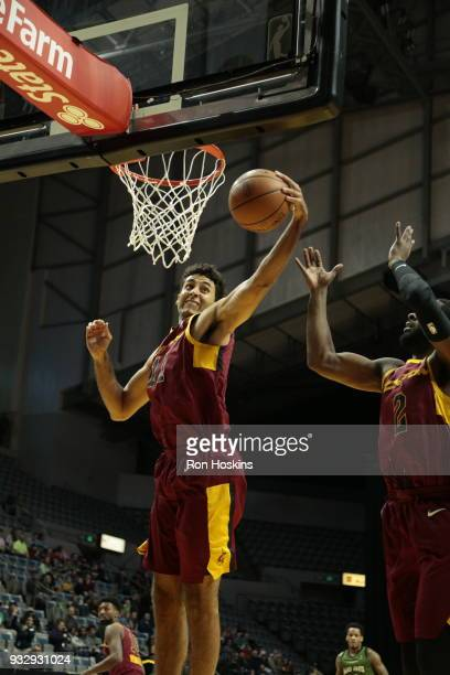 Grant Jerrett of the Canton Charge rebounds on the Fort Wayne Mad Ants on March 16 2018 at Memorial Coliseum in Fort Wayne Indiana NOTE TO USER User...
