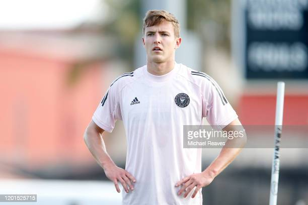 Grant Lillard of Inter Miami CF looks on during a training session at Barry University on January 23 2020 in Miami Florida