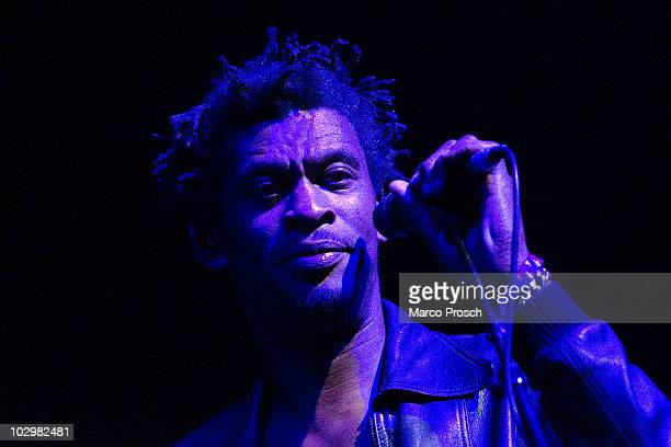 Grant Marshall of English music production duo Massive Attack performs live on stage at the Melt festival in Ferropolis on July 18 2010 in...