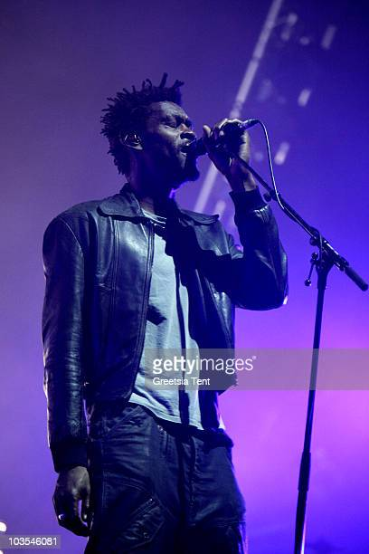 Grant Marshall of Massive Attack performs on day three of the Lowlands Festival 2010 on August 22 2010 in Biddinghuizen Netherlands