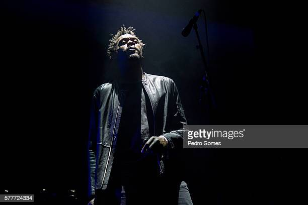Grant Marshall of Massive Attack performs on the main stage at Super Bock Super Rock festival on July 15 2016 in Lisbon Portugal