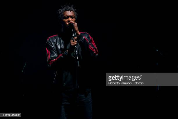 Grant Marshall of the Massive Attack performs on stage at Palalottomatica on February 8 2019 in Rome Italy