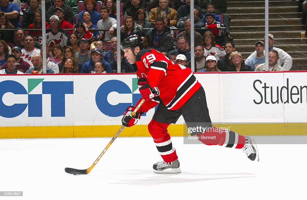 best service c2967 16f47 Grant Marshall of the New Jersey Devils skates with the puck ...