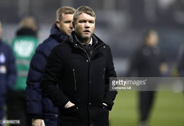 Grant McCann manager of Peterborough United during the EFL Checkatrade Trophy Third Round match between Luton Town and Peterborough United at...
