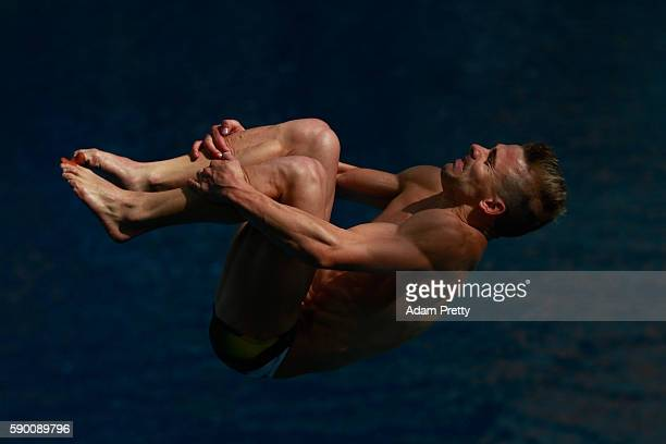 Grant Nel of Australia competes in the Men's Diving 3m Springboard semi final at the Maria Lenk Aquatics Centre on August 16, 2016 in Rio de Janeiro,...