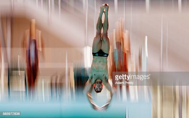 Grant Nel of Australia in action during diving training at the Maria Lenk Aquatics Centre in Rio de Janerio on August 4, 2016 in Rio de Janeiro,...