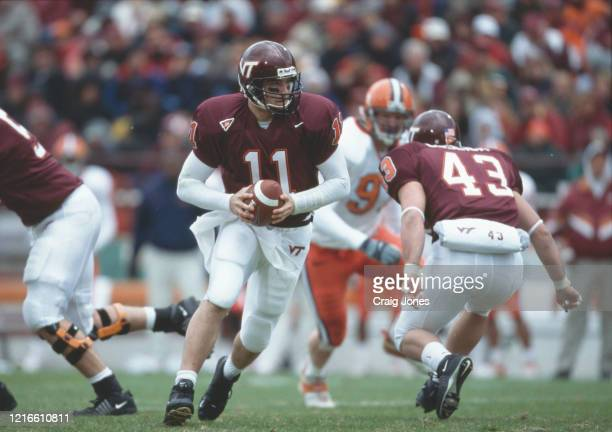 Grant Noel Quarterback for the Virginia Tech Hokies during the NCAA Big East Conference college football game against the University of Syracuse...