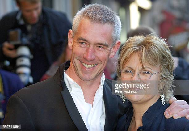 "Grant Roffey and Julie Walters arrive at the UK Charity Premiere of ""Wah-Wah"" at the Odeon West End, Leicester Square."