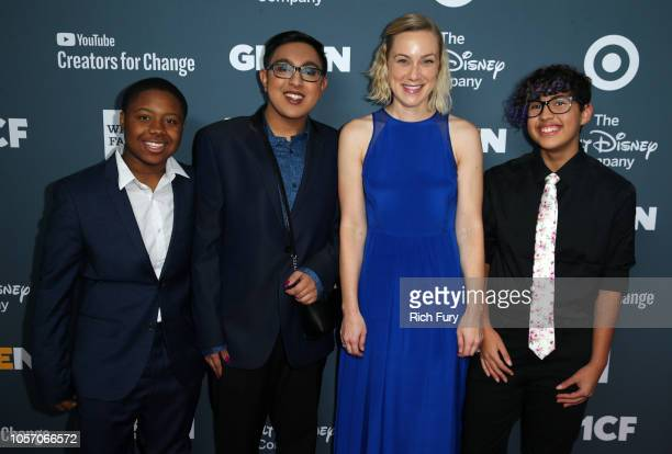Grant Sameer Jha Kati Morton and Kian TortorelloAllen attend the GLSEN Respect Awards at the Beverly Wilshire Four Seasons Hotel on October 19 2018...