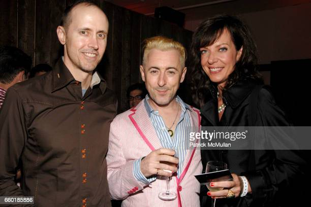 Grant Shaffer Alan Cumming and Allison Janney attend BOSS ORANGE New Direction Party at 601 West 26th street on July 23 2009 in New York City