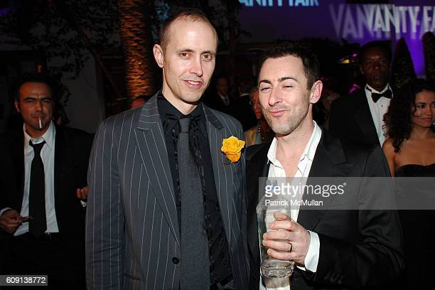 Grant Shaffer and Alan Cumming attend VANITY FAIR Oscar Party at Morton's on February 25 2007 in Los Angeles CA