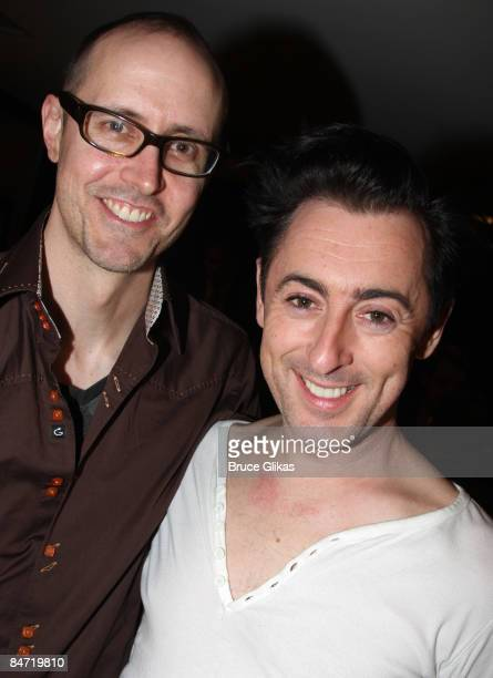Grant Shaffer and husband Alan Cuming pose at Broadway Backwards 4 A Benefit for The Gay Lesbian and Transgender Center of Manhattan at the American...