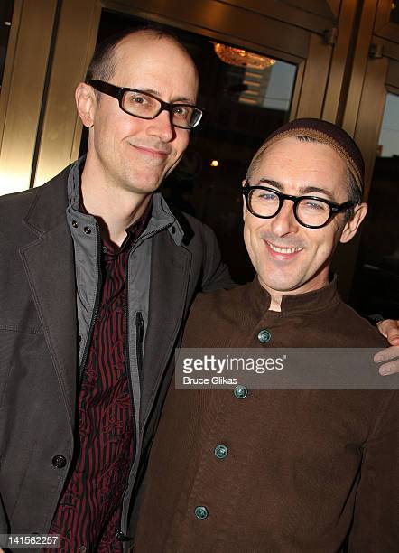 Grant Shaffer and husband Alan Cumming attend the opening night of Once on Broadway at The Bernard B Jacobs Theatre on March 18 2012 in New York City