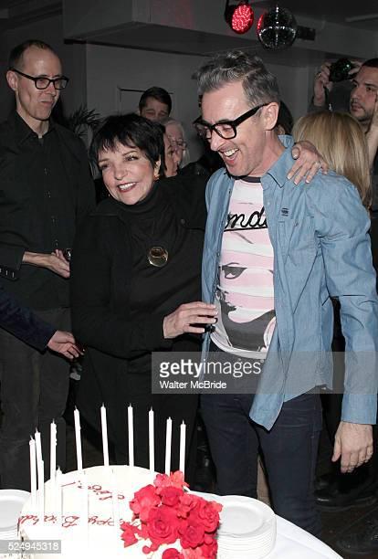 Grant Shaffer Liza Minnelli Alan Cumming attending the Liza Minnelli 67th Birthday Celebration at the Copa in New York City on 3/13/2013