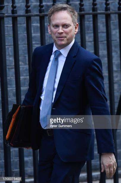 Grant Shapps Transport Secretary arrives at Downing Street on February 11 2020 in London England Boris Johnson will give the green light to the HS2...