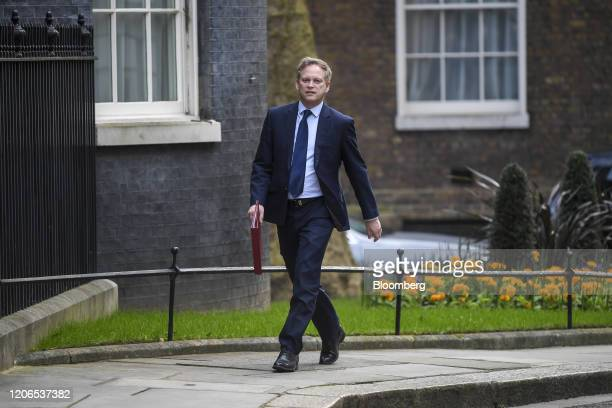 Grant Shapps UK transport secretary arrives for a prebudget meeting of cabinet ministers at number 10 Downing Street in London UK on Wednesday March...