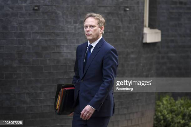 Grant Shapps UK transport secretary arrives for a weekly meeting of cabinet ministers at number 10 Downing Street in London UK on Tuesday Feb 25 2020...