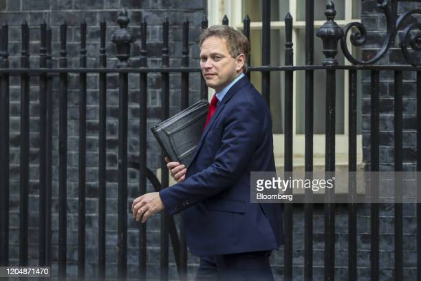 Grant Shapps UK transport secretary departs following a weekly meeting of cabinet ministers at number 10 Downing Street in London UK on Tuesday March...