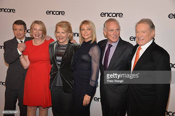 11 Grant Shaud Diane English Candice Bergen Faith Ford Joe Regalbuto and Charles Kimbrough attend the 'Murphy Brown' a 25th anniversary event at...