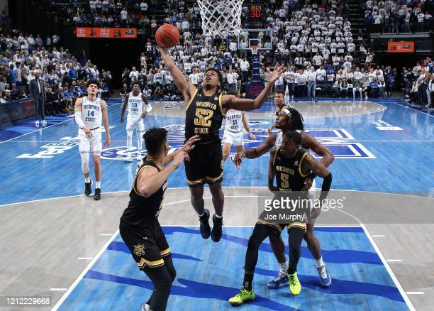 Grant Sherfield of the Wichita State Shockers grabs a rebound against the Memphis Tigers during a game on March 5 2020 at FedExForum in Memphis...