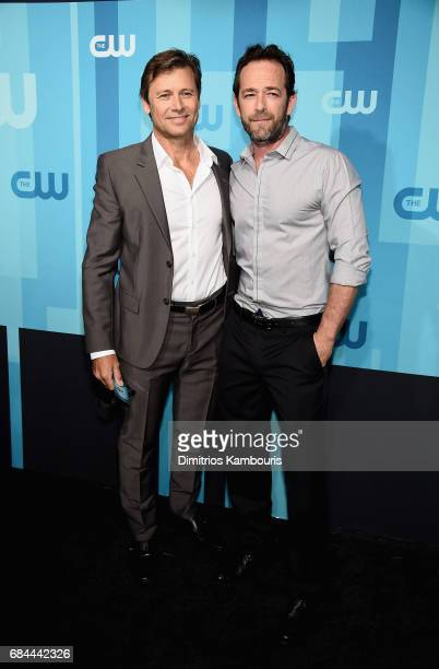 Grant Show and Luke Perry attend the 2017 CW Upfront on May 18 2017 in New York City
