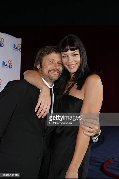 Grant Show and Pollyanna McIntosh at the DIRECTV's 100 HD Emmy Party at the West Hollywood Municipal Park on September 17 2007 in West Hollywood CA