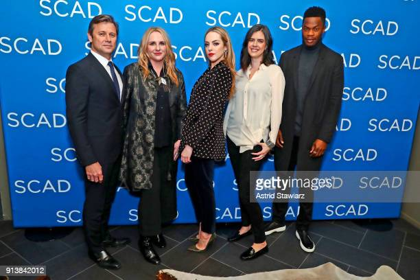 Grant Show Meredith MarkworthPollack Elizabeth Gillies Sallie Patrick and Sam Adegoke attend a screening and QA for 'Dynasty' on Day 3 of the SCAD...