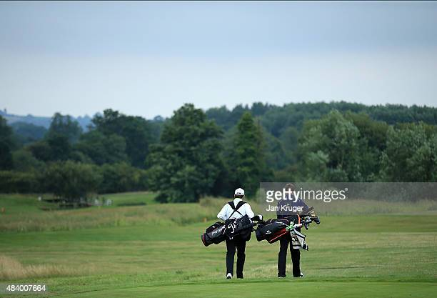 Grant Slater of Trevose Golf Country Club and partner James Ruth of China Fleet Golf Country Club walks down the fairway during the final round on...