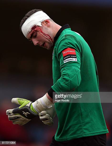 Grant Smith of Bognor Regis Town during the FA Trophy Semi Final Second Leg between Grimsby Town and Bognor Regis at Blundell Park on March 19, 2016...
