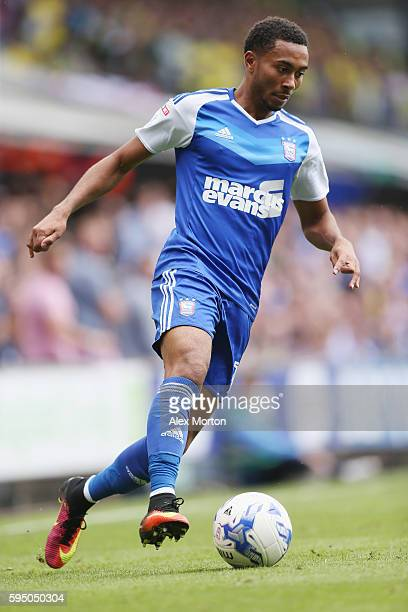 Grant Ward of Ipswich during the Sky Bet Championship match between Ipswich Town and Norwich City at Portman Road on August 21 2016 in Ipswich England