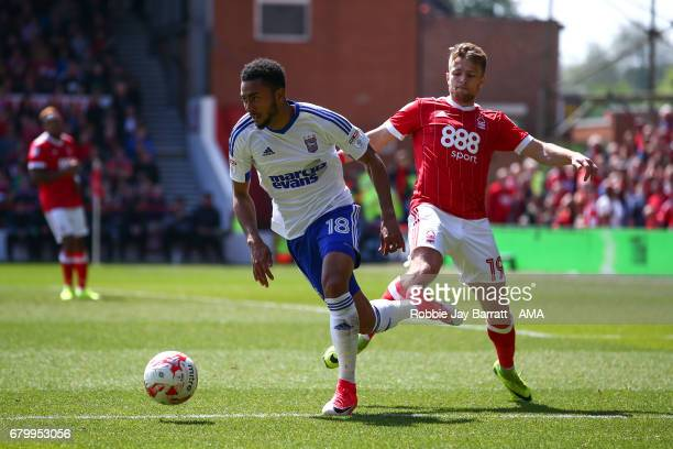 Grant Ward of Ipswich Town and Jamie Ward of Nottingham Forest during the Sky Bet Championship match between Nottingham Forest and Ipswich Town at...