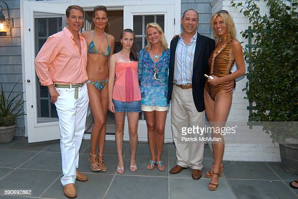 Grant Wilfley Becky Lily Baker Nina Griscom Sal Piazzolla and Model attend HAMPTON SUN Cocktail Party by the Pool at Nina Griscom Residence on July...
