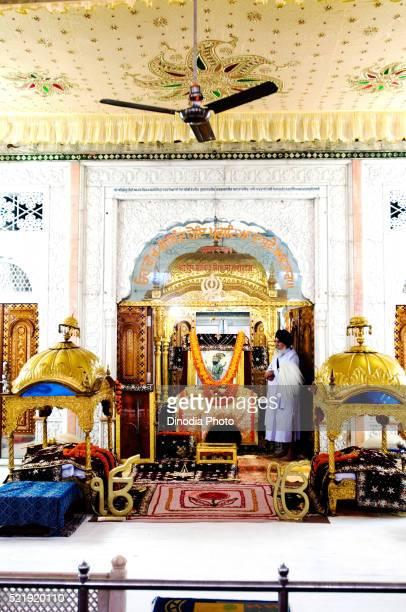 Granth at darbar hall of gurudwara patna sahib, Patna, Bihar, India