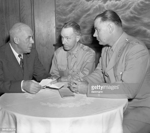 Grantland Rice President of the War Football Fund Major Wallace Wade and Lt Colonel Robert Neyland former football coaches at Duke and Tennessee...