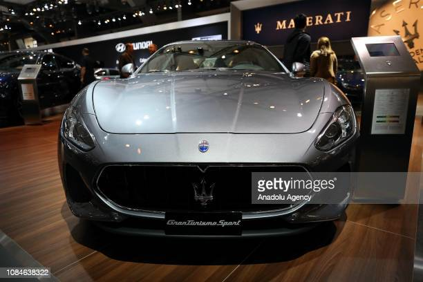 GranTurismo Sport is being displayed for the press members ahead of 97th Brussels Motor Show at Brussels Expo Center in Brussels Belgium on January...